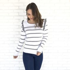 48816bedeee My Only Love Stripe Knit Sweater - Dainty Hooligan Boutique My Only Love,  Sweater Weather