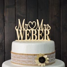 Custom Wedding Cake Topper Mr