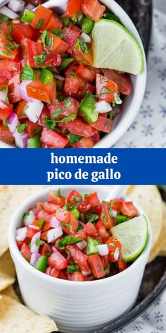 Perfect with crisp tortilla chips or pretty much anything else, you can make your own authentic fresh pico de gallo with only six ingredients! Dip Recipes, Appetizer Recipes, Mexican Food Recipes, Snack Recipes, Appetizers, Cooking Recipes, Ethnic Recipes, Stuffed Jalapeno Peppers, Stuffed Green Peppers