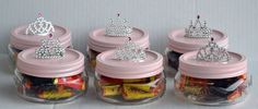 Candy jars I made for my daughters birthday party :)
