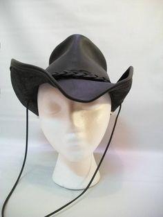 ff212b90f45 Vintage Leather Henschel Cowgirl Hat