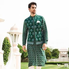 20 Groom Wear Fits From Jaipur Love Collection By Anita Dongre Anita Dongre, Dusty Pink Outfits, Mint Green Outfits, Jaipur, Emerald Green Outfit, Indian Men Fashion, Men's Fashion, Groom Fashion, Fashion Details