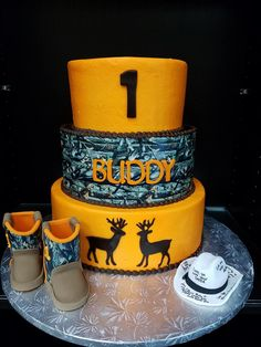 Camo and Hunting First Birthday Cake for Buddy