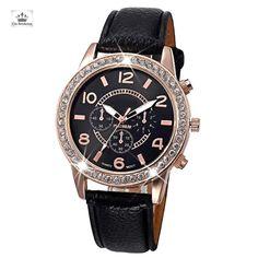 Montre Femme Toscana Nero Élégante et Tendance, cette Montre ceinturé d or  rose et Strass, dispose d un cadran assortit aux tons de son bracelet cuir  une ... 312299ba141
