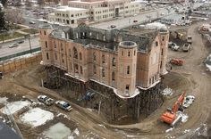 The Provo Tabernacle is up on stilts! The ground beneath is currently being excavated for a basement as the restoration and transition to a temple continues. Read more on LDS Living!