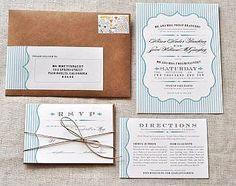 Rustic chic invites  Kraft paper envelopes  Border around invitation