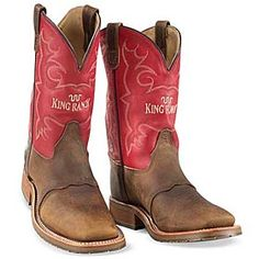 King Ranch - MEN'S RED TOP BOOTS