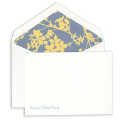 Lagoon Blue Painted Edge Correspondence Cards on Boardstock