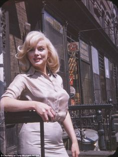 Six photos of legendary film icon Marilyn Monroe taken by her friend Frieda Hull on July 8, 1960, outside Fox Studios in New York
