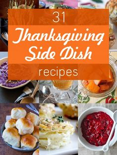 Thanksgiving Side Dishes #thanksgiving #foodporn #thanksgivingrecipe http://livedan330.com/2014/11/21/31-thanksgiving-side-dishes/