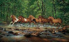 Spring Creek Run-Horses by Chris Cummings WildWings