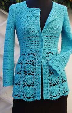 Front open jacket by PDFPatternDesign, via Flickr