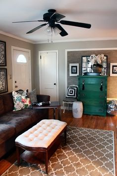 I Like The Framed Wall. Emily A Clark: Working With: No Foyer.living Room  Small Entry Via The Hunted Interior.note The Wall Treatment U0026 Arrangement  To ...