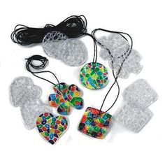 Turn heads with pretty plastic pendants!