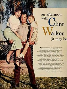 Clint Walker and Family Clint Walker Actor, Cheyenne Bodie, Cute Celebrities, Celebs, Men Are Men, Tv Westerns, Celebrity Couples, Hollywood Couples, Old Shows