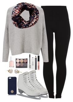 """""""Ice Skating♥"""" by noellexox ❤ liked on Polyvore featuring Pieces, Kin by John Lewis, Pendleton, Tory Burch, Burberry, Topshop, Forever 21, Essie and NARS Cosmetics"""