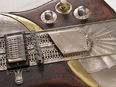 Sandpiper - Electric Guitar by Tony Cochran Guitars (detail)