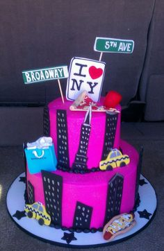 New York Theme Birthday Cake Nyc City