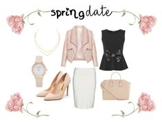 """""""Spring Date"""" by halie-nichole on Polyvore featuring Yoek, Zizzi, WearAll, Rupert Sanderson, Lana and Givenchy"""