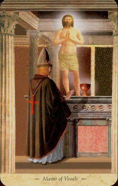 King of Cups ( Vessels) - Grail Tarot by John Matthews, Giovanni Caselli