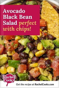 """A summertime favorite, this black bean and avocado salad is awesome served on a bed of greens or as a dip with tortilla chips. It's similar to """"cowboy caviar"""" or """"Texas caviar"""" but with black beans instead of black-eyed peas. It's easy and inexpensive to make, packed with healthy ingredients, and is so versatile. Bring this to your next party or potluck!"""