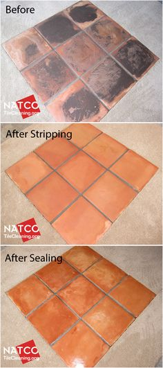 Cleaning, stripping and sealing Saltillo Tile Floor