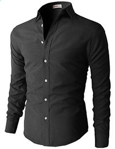 Mens Oxford Cotton Slim Fit Casual Button-down Shirts Long Sleeve BLACK US M/Asia L Go to the website to read more description. Casual Shirts For Men, Casual Button Down Shirts, Men Casual, Mens Designer Shirts, African Clothing For Men, Slim Fit Dresses, Long Sleeve Shirts, Shirt Designs, Mens Fashion
