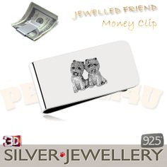 westie silver money clip