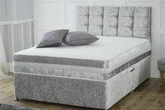 MEMORY FOAM DIVAN BED SET WITH MATTRESS AND HEADBOARD 3FT 4FT6 Double 5FT King · $184.99 Mattress Springs, Foam Mattress, Velvet Bed Frame, Divan Sets, King Size Bed Frame, Trends, Bed Sizes, Bedroom Furniture, Home