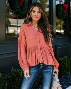 Tops – Page 20 – VICI Dress Bar, Peplum, Ruffle Blouse, Passion For Fashion, Spring Summer Fashion, Collars, Fitness Models, Fashion Outfits, My Style