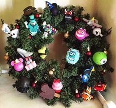 Disney Christmas Wreath DIY, made by me