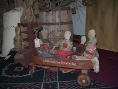 cloth dolls www.rabbithillprimitives.com