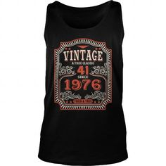 41th Funny Anniversary Gifts Ideas Aged Vintage True Classic Since 1976 Tried And True