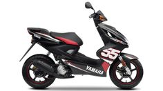 Aerox SP55 is small scooter with modern design. This modern scooter have only 3 horse power with 50 ccm. Motorcycle is available in black and red color.      Specifications    Manufacturer Yamaha   Model Aerox SP55   Category �
