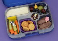 Easy bento lunch ideas for kids - simple and healthy bento lunch in the Yumbox UK bento box - with bento picks to decorate - from Eats Amazing UK