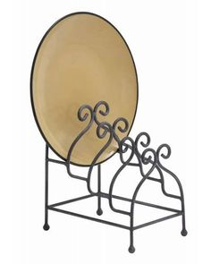 Scroll Iron Design Utility Metal Holder - This utility holder is a staple of the ideal kitchen and library. The perfect countertop fixture to display your beautiful tableware. Made with iron alloy scrollwork throughout, this is perfect to organize your magazines as well.