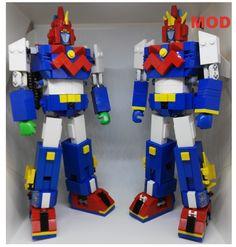 VOLTES  21 cm lego   VS    Voltes 21 cm lego pieces modified