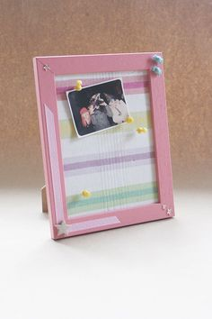 clear colours: Easy gift idea: Fabric Cork Frame