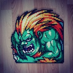 Blanka Street Fighter hama perler beads by didichenamour