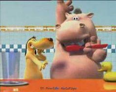 hippo and the dog brushing teeth-αγωγή υγείας Dental Humor, Dental Hygiene, Dental Health, Oral Health, Dental Care, Children's Dental, Dental Videos, Animation Classes, Kids Dentist