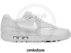 Men's Nike Air Max 1 SP The Monotones Vol. 1 Pack Speckle Carbon Fiber Geyser Grey Sneakers : T87x65