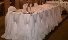 The sparkling pinning and the feather like appearance of the table cloth takes my breath away. - EJ
