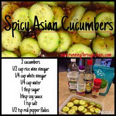 Spicy Asian Cucumbers 21 Day Fix Approved