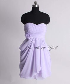 Amazing A-line empire waist chiffon dress for bridesmaid - Click image to find m. Amazing A-line e Bridesmaid Dresses Under 100, Grad Dresses Short, Junior Dresses, Homecoming Dresses, Bridal Dresses, Chiffon Dress, Strapless Dress Formal, Formal Dresses, Classy Dress