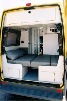 30 Elegant Image of Best Campervan Conversion Inspirations For You. The campervan will be referred to as a motor caravan in the uk. A campervan is a particular type of camping car. The campervan will be called a Dormob. Sprinter Van Conversion, Camper Van Conversion Diy, Campervan Conversions Layout, Custom Camper Vans, Custom Campers, Camping Car Sprinter, Sprinter Rv, Mercedes Sprinter Camper, Best Campervan