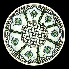 An Iznik pottery Dish Turkey, Century French Collection, Lattice Design, 17th Century, Pottery Art, Ceramic Art, Ems, Decorative Plates, Arts And Crafts, Auction