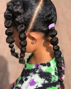 "🤍 Bubble ponies🤍 • • • Or as Amaiya has always called the hairstyle ""hairband hairband hairband"" is a firm favourite for us and again it's… Kid Hair, Hair Band, Pony, Crochet Necklace, Bubbles, Hairstyle, Beauty, Fashion, Pony Horse"