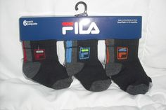 NEW Fila Sports 6 Pack Baby Sneaker Socks #Fila #AnkleSocks