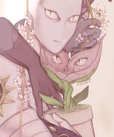 Flower nya and killer nya - JJBA - DIU - Gud art - Favorite characters - Killer Queen - Stray Cat