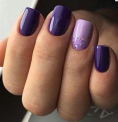 Excellent light and dark purple nail polish - NailiDeas . - Excellent light and dark purple nail polish – NailiDeasTrends – Excellent ligh - Dark Purple Nail Polish, Light Purple Nails, Pink Nails, Dark Color Nails, Gray Nails, Purple Wedding Nails, Purple Nail Art, Black Nail, Purple Gray